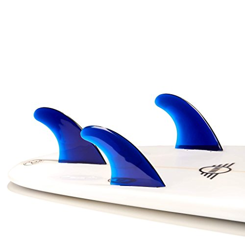 DORSAL Performance Flexrez Core Surfboard Thruster Surf Fins (3) FCS Compatible Blue
