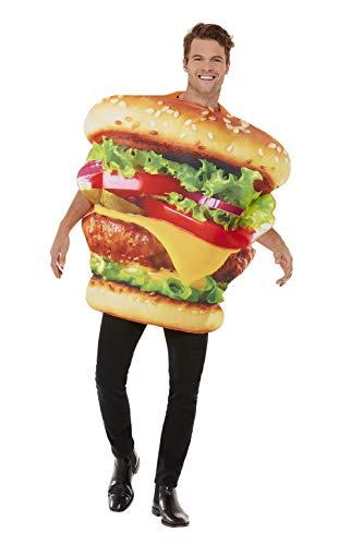 Smiffys Burger Costume Disfraz de hamburguesa, multicolor, Talla nica (55009)