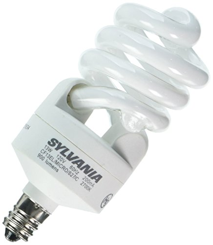 Sylvania 26941 - CF13EL/MICRO/827/C/BL/2PK Twist Candelabra Screw Base Compact Fluorescent Light Bulb (2 pack)