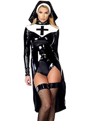 WWC Halloween Kleider Halloween Sexy Nonne Kostüm Rollenspiel Uniform Cosplay Bühnenkleidung (L)