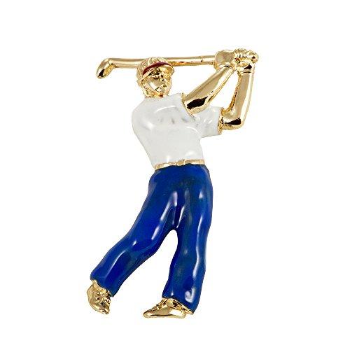 ba bijou-art Brosche Golfer
