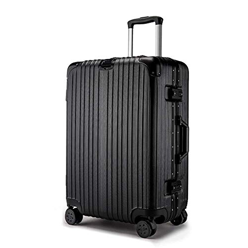 XKstyle Suitcase Trolley Car Trolley Suitcase 20 Inches Customized Aluminum Frame Wheels Suitcases Men And Women Student Password Box (size: 22Inch24Inch)