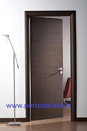 Porte interne Laminato Wenge compreso telaio mostrine (80x210 Destra)