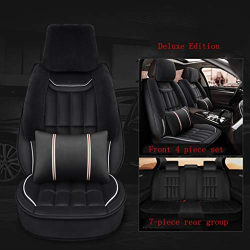SSRS Buick multi-function car luxury version men and women winter antifreeze plush all-inclusive car seat cover car seat cushion (Color : Black)