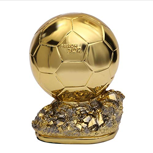 KJFSDH Ornaments Sculptures Plating Golden Globe Award Art Sculpture Football Match Resin Trophy Figurines Resin Crafts Desktop Decorations For Home