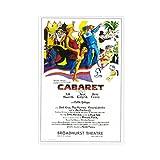 Cabaret Broadway Film-Leinwand-Poster, Schlafzimmer,