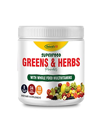 Naturals Fit Men's Green and Hearbs With Whole food Multivitamin Supplement For Men & Women - 30Serving per container