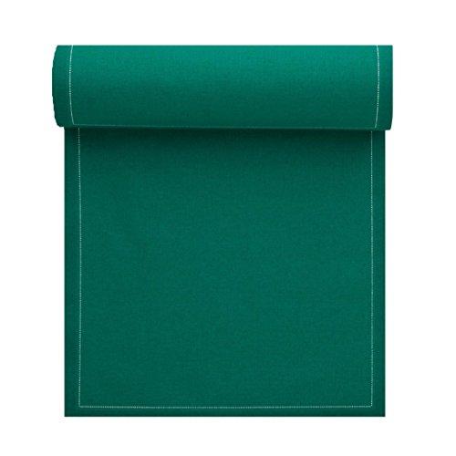 Serviette de table en coton 20x20cm - Idéale pour fête, anniversaire, cocktail - Rouleau de 25 serviettes - Vert Caraïbes