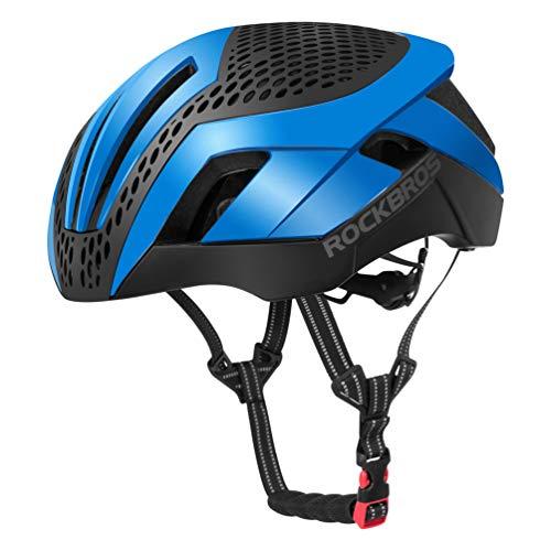 ROCKBROS Casque VTT Vélo Homme Adulte 57-62 cm Respirant en EPS avec Couvercles de Rechange Noir (Bleu)