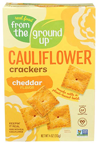 From the Ground Up  Cauliflower Crackers Cheddar  4 oz