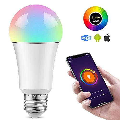 vitutech Smart LED Lampe RGB,E27 WLAN Glühbirne mit Timer Funktion und Fernsteurung Sprachsteuerung WiFi Glühbirne RGBW Bulb Kompatibel mit Alexa und Google Home
