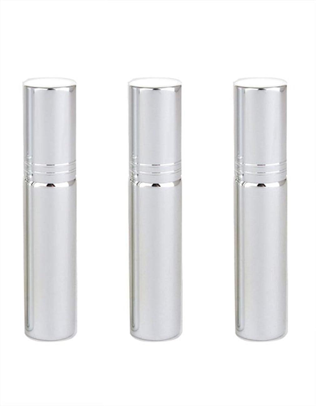 アカウントシンポジウム領域Simg アトマイザー グラスアトマイザー 香水ボトル スプレーボトル 詰め替え容器 旅行 漏れ防止 (銀メッキ)
