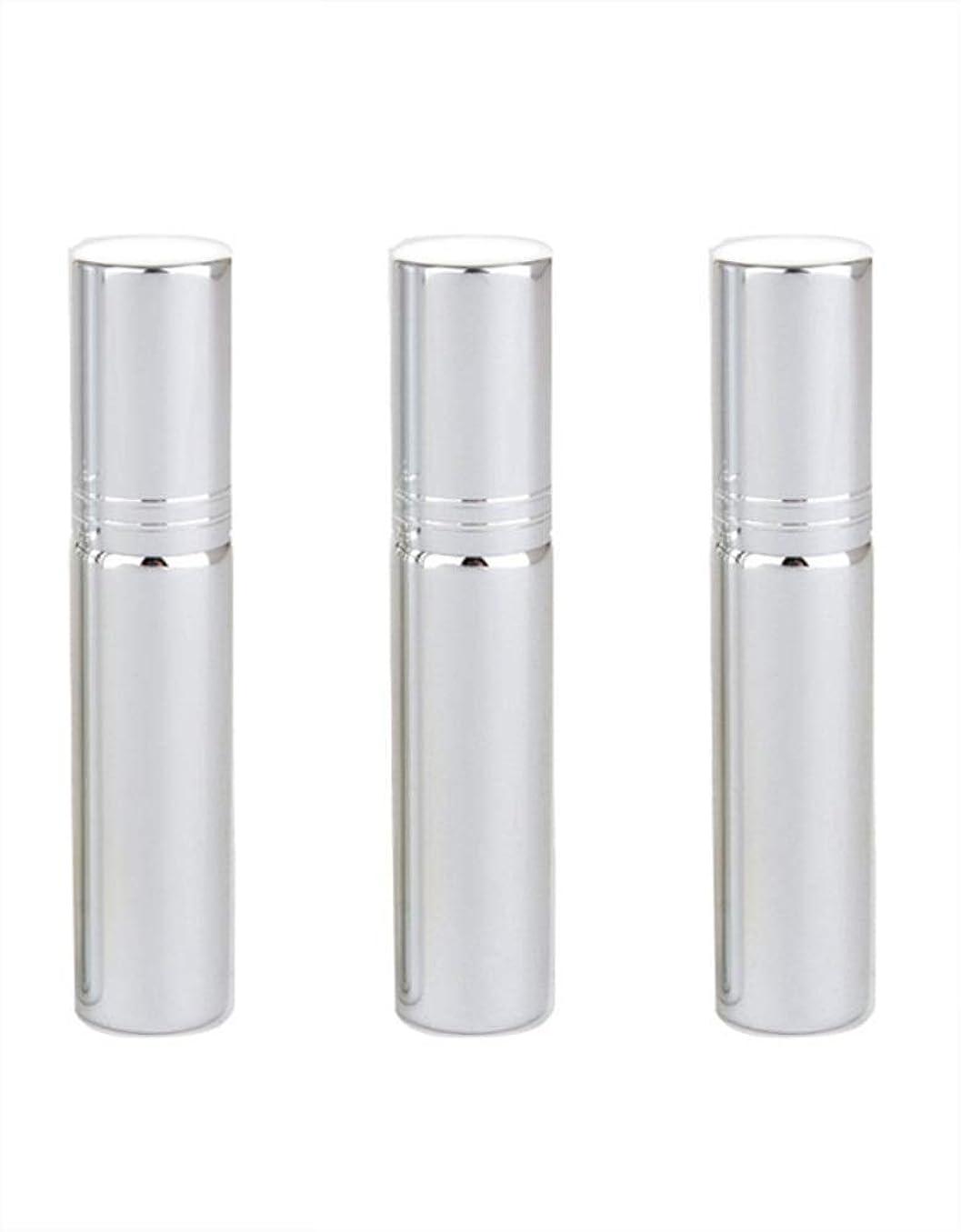 乳白葉を拾うステレオSimg アトマイザー グラスアトマイザー 香水ボトル スプレーボトル 詰め替え容器 旅行 漏れ防止 (銀メッキ)