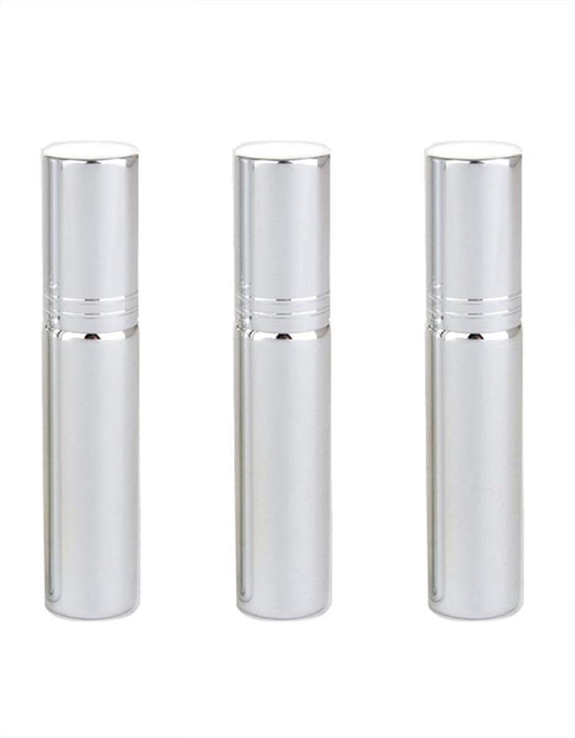 同僚と鳩Simg アトマイザー グラスアトマイザー 香水ボトル スプレーボトル 詰め替え容器 旅行 漏れ防止 (銀メッキ)