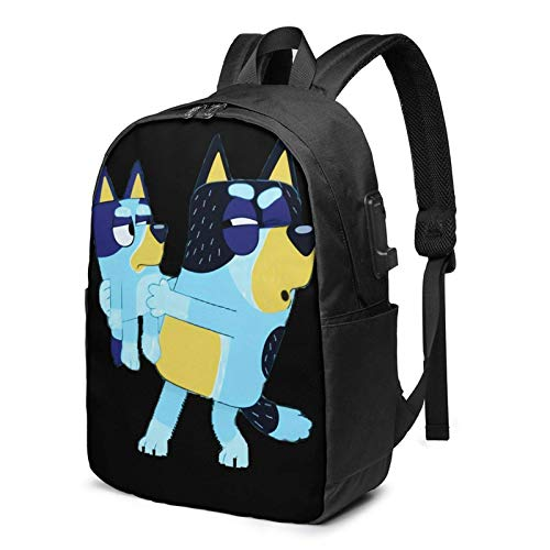 IUBBKI Bolsa para computadora mochila USB Men Women Packable Backpack with USB Charging Port, Durable compartment Work Bag, Book Bags Daypack for Outdoor Hiking School, Cartoons Blu-ey