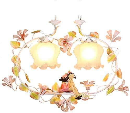 XCY Lily Lily Lily Flower Shop - Lampada in vetro di cristallo per camera da letto, utile e regolabile