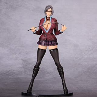 DMCMX Prison School Handmade Model Anime Character Shiraki Meiko Student Vice President S Queen Tight School Uniform High-Heeled Boots Static Desktop Model PVC Material 22cm Chassis Decoration
