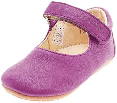 Froddo Leder Babyschuhe Hausschuhe Gummisohle Spangenschuhe (23, pink)
