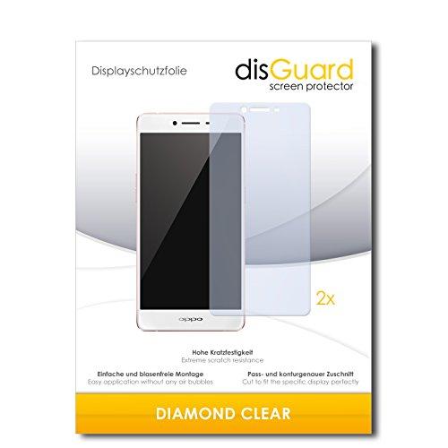 disGuard 2 x Bildschirmschutzfolie Oppo R7s Schutzfolie Folie DiamondClear unsichtbar