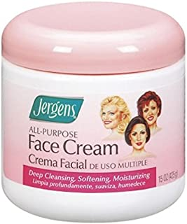 Jergens Face Cream All Purpose 15 Ounce Jar (443ml) (6 Pack)