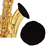 LUTER Tenor Saxophone Bell Cover Alto Sax Instrument Bell Cover for Flugelhorn and Tenor Saxophone for Instrument in 5.7-6.3inch(Black)