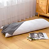 Body Pillow With Pillowcase-Full Body Pillow For Adults-Soft Long Sleeping Breathable Bed Pillow With Cover(20X54 Inches)-Grey