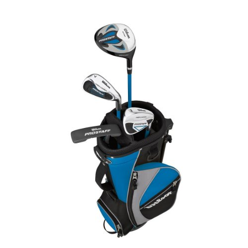 Wilson-Prostaff HDX-Set di Mazze da Golf (Driver, Ibrido, Ferri e Wedge, Mazza da Golf Putter, con Funzione Stand, per Bambini di 5-8 Anni)