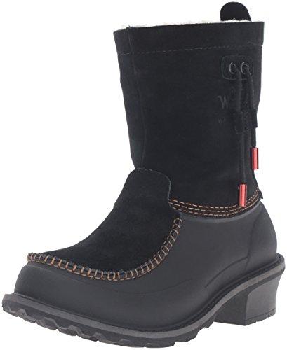 Woolrich Women's Fully Wooly Slip Snow Boot, Black, 6 M US
