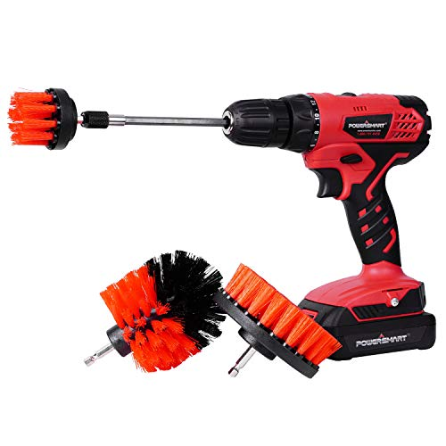 PowerSmart Drill Driver, Cordless Drill Driver with Brushes, 300 in-lb Torque Impact Drill Driver, 3/8
