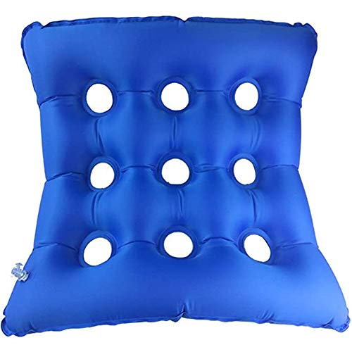 2 Pieces Anti-Decubitus Medical Air Mattress Wheelchair Cushion Decompression Breathable Elderly Patients Anti-Pressure Sore Hip Inflatable Pad Home Care Products, Small And Lightweight (Color : Blue)