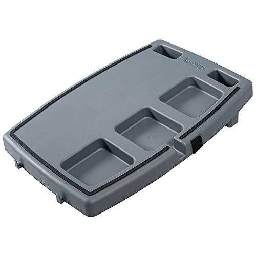 Stupid Car Tray Personal Passenger Seat Multi Function Anti Slip Rubber Food and Drink Travel Organizer Tray, Gray/Black