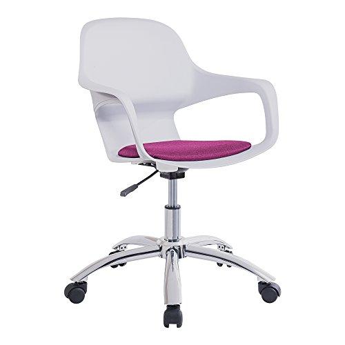 Adec - Silla de oficina, sillon giratorio escritorio o estudio color Fucsia, modelo Navy