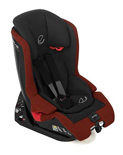 Jané 4589 T77 Kindersitz i-Size Gruppe 1 2 3, von 75 bis 150cm, mit Top Tether, Rückenlehne verstellbar, Bezug kann abgezogen und gewaschen werden, inklusive Sitzverkleinerer, rot