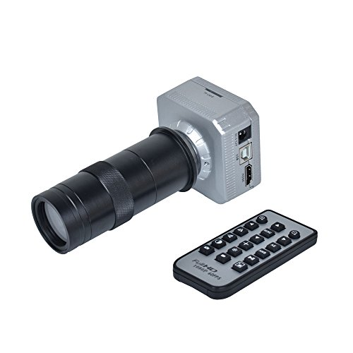 16MP 1080P @ 60FPS HDMI USB Output Industrial Microscope Camera+100X C-Mount Lens for Industry PCB Lab Microscope Accessoires