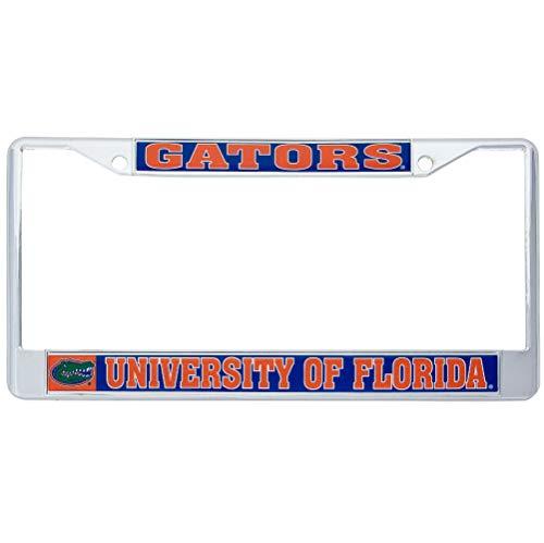 Desert Cactus University of Florida Gators Metal License Plate Frame for Front Back of Car Officially Licensed (Mascot)
