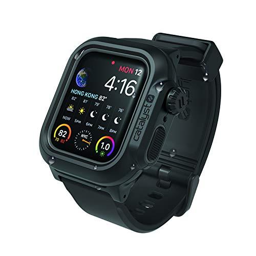 Catalyst Custodia per orologio impermeabile Apple Watch serie 4 40mm con cinturino in premium silicone resistente agli urti [Custodia protettiva iWatch resistente Apple Watch 4] - Nero