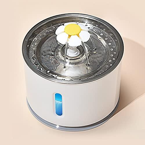 Bebedero automático para Gatos con Sensor de Infrarrojos, Bebedero para Perros, alimentador de Bebedero, Adaptador de Corriente de iluminación LED