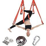 HANYF Fitness Yoga Amaca, Anti-gravità di Nylon Tessuto Amaca Insieme, Yoga Pilates Volare Pendolo Dispositivo di Trazione Aerea, Attrezzature Modellamento del Corpo (con Cinghie),D