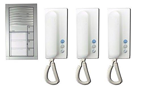 Siedle - Portero automático (3 telefonillos), color plateado