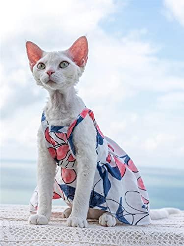 TENGTUD Ropa de Gato de Pelo, Sphynx/Devon Thin Fot Imprent Cat.-M +_Pie Corto