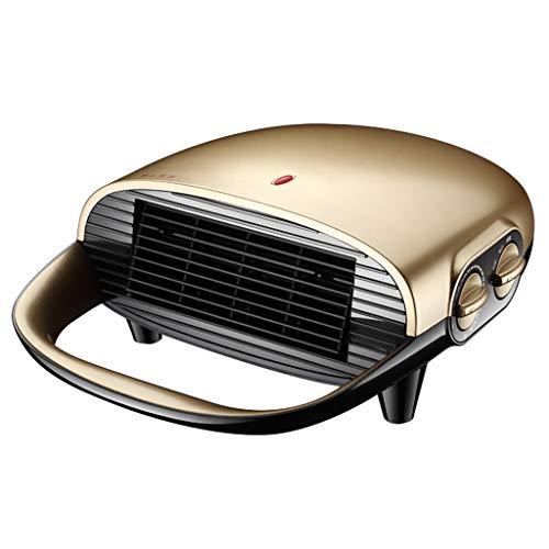 Heater AX Termoventilatori Riscaldatore del Ventilatore Spazio Personale Riscaldatore Elettrico Ceramica Riscaldatore ceramico PTC con a ribalta silenziosa Casa e Ufficio Oro