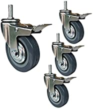 Bewegende zwenkwielen Zwenkwielen 4 zwenkwielen 75/100 mm Zwenkwiel voor zwaar gebruik met M10 / M12-trolley met schroefdr...