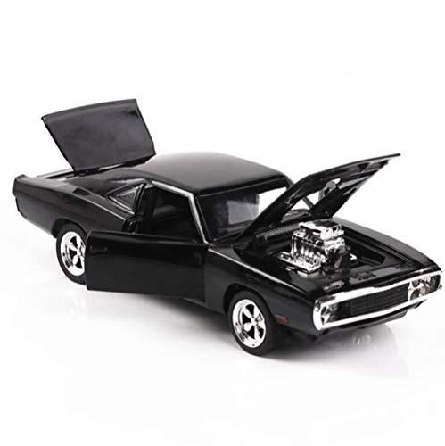 HAOSHA 1/32 gietijzer en speelgoedauto met toon- en lichtverzameling, speelgoedauto en huishoudtextiel, zwart