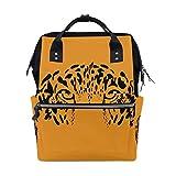 Leopard Eye Art School Backpack Bookbag Travel Shoulder Stylish Large Capacity Diaper Bags