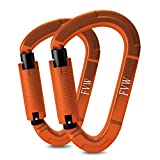 FVW Auto Locking Rock Climbing Carabiner Clips,Professional 25KN (5620 lbs) Heavy Duty Caribeaners for Rappelling Swing Rescue & Gym...