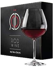 Rödvinsglas i Kristall, Stora Vinglas för rödvin i Lyxig Presentförpackning, Kristallglas med stor kupa för bröllop, födelsedagspresent, julklapp 3-pack