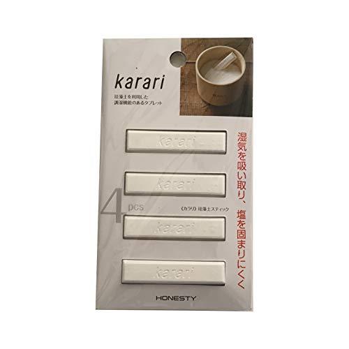 アネスティカンパニー Karari 珪藻土スティック4P ホワイト HO1811 6×1.5×0.8cmの写真