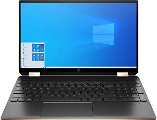 HP Spectre X360 15.6 Inch 4K UHD Touch-Screen 512GB SSD + 32GB Optane 1.8GHz i7 2-in-1 Laptop (16GB RAM, Quad-Core i7-10510U, GeForce MX330, Windows 10 Home) Nightfall Black 15-EB0043DX