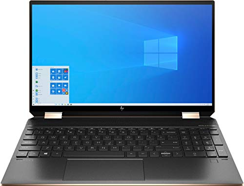 HP Spectre X360 15.6 Inch 4K UHD Touch-Screen 512GB SSD + 32GB Optane 1.8GHz i7 2-in-1 Laptop (16GB RAM, Quad-Core i7-10510U, GeForce MX330, Windows 10 Home) Nightfall Black 15-EB0043DX
