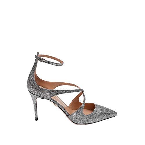 AQUAZZURA Luxury Fashion Damen VIVMIDP0GSU000BLACK Silber Pumps   Jahreszeit Outlet